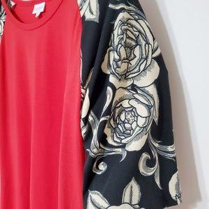 LuLaRoe Tops - LuLaRoe Roses Red Gigi Tee Size 3XL NWOT LLR